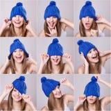 Collage van vrouw Royalty-vrije Stock Foto's