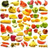 Collage van vruchten en groenten 3 stock foto's