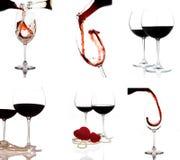 Collage van wijnschoten Stock Foto