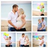 Collage van zwanger Royalty-vrije Stock Foto's