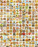 Collage. With variety of food and dishes cooked Royalty Free Stock Image