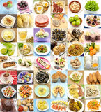 Collage. With variety of food and dishes cooked Stock Image