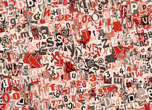 Collage variopinto delle lettere Fotografia Stock Libera da Diritti