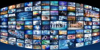 The collage of various business concepts royalty free stock photo