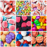Collage of various candies and sweets Stock Photography