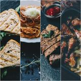 Collage With Food royalty free stock images