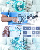 Collage of Various modern medical Stock Images