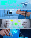 Collage of Various modern medical Stock Photo