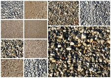 Collage of various sand Stock Photo