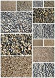 Collage of various sand Royalty Free Stock Photo