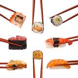 Collage of various Sushi Stock Photo