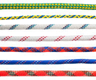 Collage of various types of dynamic rope Royalty Free Stock Photos