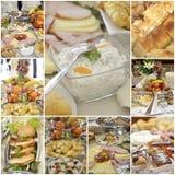 Collage of a variuos gourmet food Stock Photos