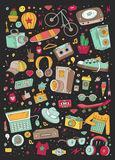 Collage vector elements Royalty Free Stock Images