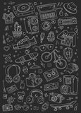 Collage vector elements Stock Image