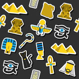 Collage of vector flat design Egypt Stock Photography