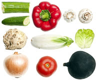 Collage of vegetables Royalty Free Stock Photography