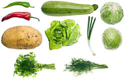 Collage of vegetables Royalty Free Stock Images