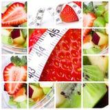 Collage vegetariano fotos de archivo libres de regalías