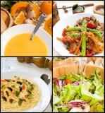 Collage vegetariano del alimento Foto de archivo libre de regalías