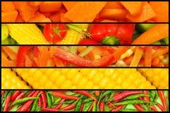 Collage - vele vruchten en groenten Stock Afbeeldingen