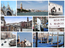 collage venice Arkivbild