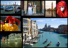 collage venice Arkivbilder