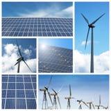 Collage verde di energia Fotografie Stock Libere da Diritti