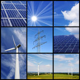 Collage vert d'énergie Photos stock