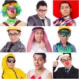 Collage vieler Gesichter Stockfoto