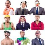 Collage vieler Gesichter vom gleichen Modell Lizenzfreie Stockfotografie