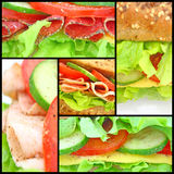 Collage vieler verschiedenen neuen sandwichs Lizenzfreies Stockbild