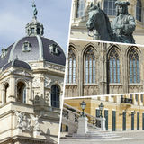 Collage of Vienna ( Austria ) images - travel background (my pho Royalty Free Stock Images