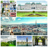 Collage of Vienna. stock photography