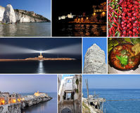 Collage Vieste, Puglia, Italy Stock Photo