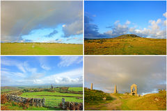 A collage of views from Bodmin Moor, England, UK Royalty Free Stock Images