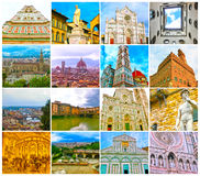 Collage from views of the Florence, Italy Royalty Free Stock Images