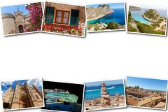 Collage travel Spain Palma de Mallorca. The collage from views of Palma de Mallorca, Spain. Collage travel Spain Palma de Mallorca on a white background Royalty Free Stock Image