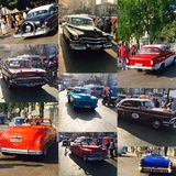 Collage of vintage cars Royalty Free Stock Photo