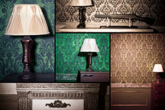 Collage of vintage interior Stock Photography