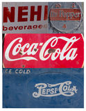 Collage of vintage soft drink signs/symbols Royalty Free Stock Photography