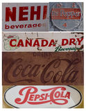 Collage of vintage soft drink signs/symbols Royalty Free Stock Photos