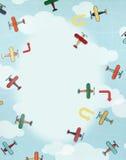 Collage, vliegtuigen royalty-vrije stock fotografie