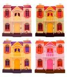 Collage von dall Häusern lokalisiert auf Weiß. Lizenzfreie Stockbilder