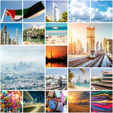 Collage von Fotos von Dubai stockfotografie