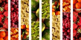 Collage von fruchtigen Beschaffenheiten Stockfoto