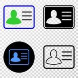 Collage von Gradiented punktierte Benutzer-Karte und Grunged-Stempel stock abbildung