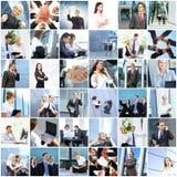 Collage von jungen Geschäftsleuten lizenzfreies stockfoto
