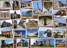 Collage von Kantabrien in Spanien Stockfotos