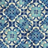 Collage von Keramikfliesen von Portugal Lizenzfreies Stockbild